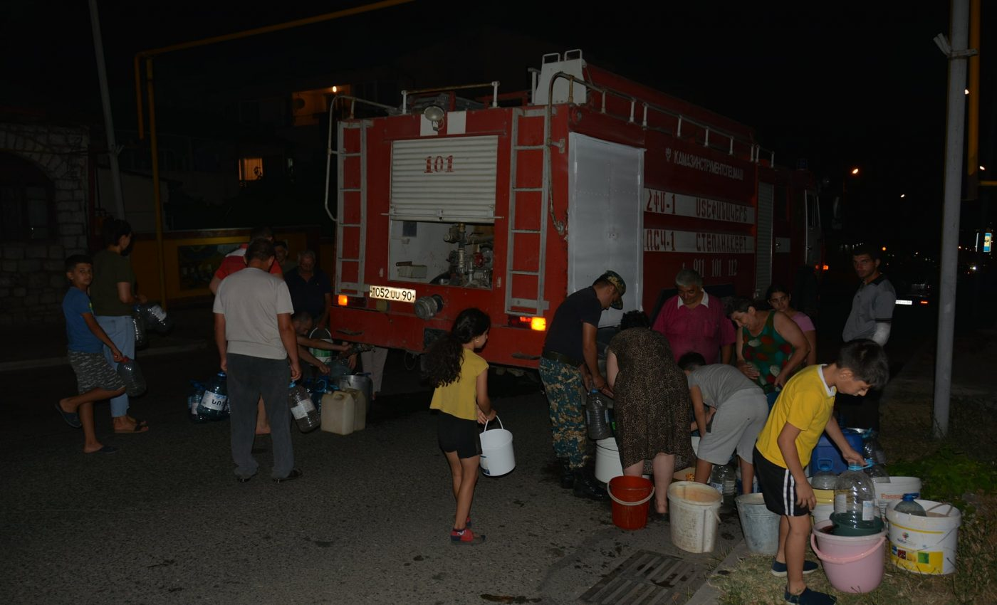 Fire_trucks_deliver_water_to_Stepanakert_communities_Artsakh_Ministry